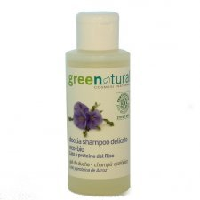 Shampoo/shower gel with organic Linen and Rice protein - 100ml