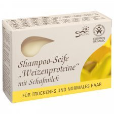 Shampoo soap bar for dry hair with Wheat protein