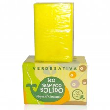 Shampoo SOLIDO Argan e Curcuma con Canapa Bio Vegan