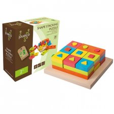 Shape stacking puzzle in wood