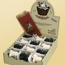 Sheep milk soap white and black sheep