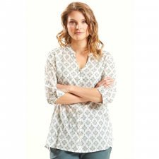 Shirt 3/4 sleeve in cotton voile