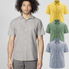 Men's short sleeve shirt in Hemp and Organic Cotton