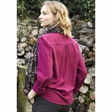 Shirt Pintuck Damask in fairtrade cotton