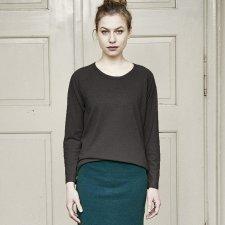 Shirt woman raglan sleeve in hemp and organic cotton