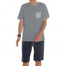 Short summer pyjama man in fair trade organic cotton