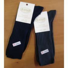 Short sanitary socks in dyed organic cotton