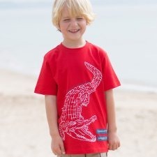 T-shirt boy crocodile in organic cotton