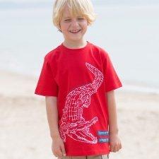T-shirt boy crocodile in organic cotton