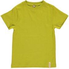Short sleeve shirt bright Green in organic cotton