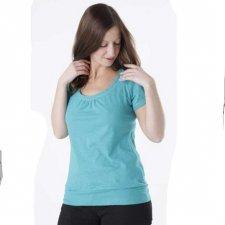 Short sleeve shirt for woman in hemp
