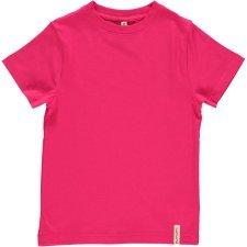 Short sleeve shirt Fuchsia in organic cotton