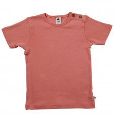 Short sleeve shirt in organic cotton Apricot