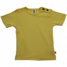 Short sleeve shirt in organic cotton Lemon Yellow