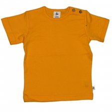 Short sleeve shirt in organic cotton Sun Yellow