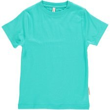 Short sleeve shirt Turquoise in organic cotton