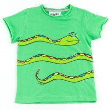 Short sleeve shirt Snake in organic cotton