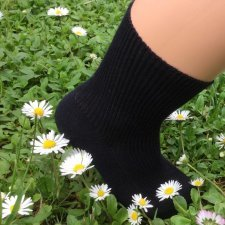 Short socks in dyed organic cotton