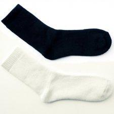 Short socks in organic cotton terry