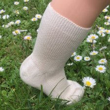 Short socks in undyed organic cotton