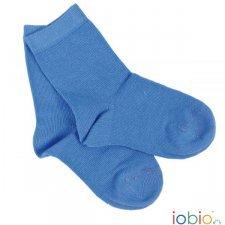 Short socks Popolini azure in organic cotton