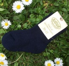 Short terry socks in organic cotton