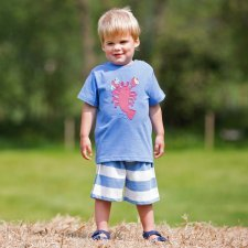 Shorts stripy baby boy in organic cotton