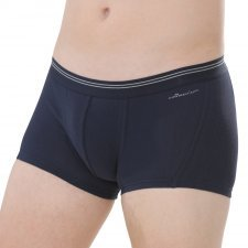 Shorts man Navy in fair trade organic cotton