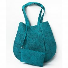 Shoulder bag with case in linen Origami Fairtrade