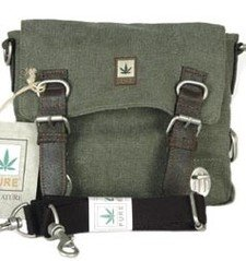 Shoulder bag in hemp