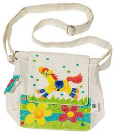 Shoulder bag to be painted - Fair Trade