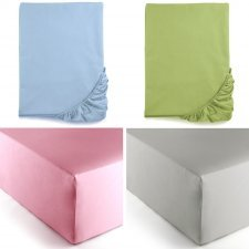 Single bed corner sheet Mymami in Organic cotton Coloured