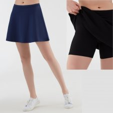 Skirt with shorts in organic cotton