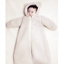 Sleeping bag Perry in merinos wool with hood