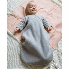 Sleeping bag in organic cotton fleece Popolini