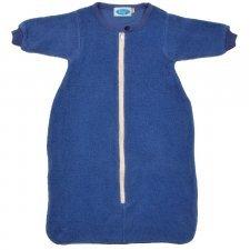 Sleeping bag with sleeves in organic cotton fleece