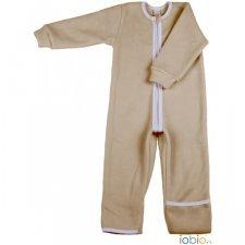 Sleeping overall in organic cotton fleece