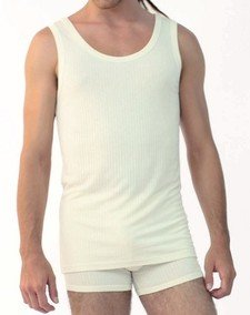 Sleeveless underwear vest in bamboo