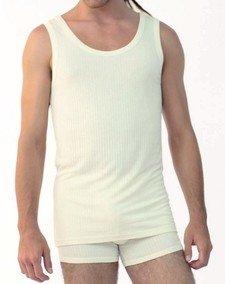 Sleeveless underwear vest in bamboo