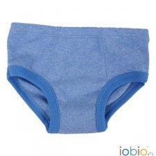 Slip bimbo Blu melange in cotone biologico