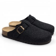 Slipper Berlin Anthracite in felted wool