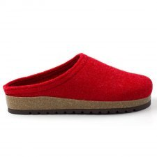 Slipper Anversa red in felted wool