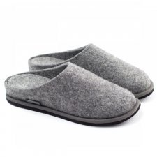 Slipper Lang denim in felted wool