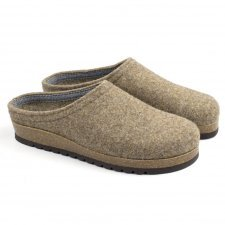 Slipper Anversa hazelnut in felted wool