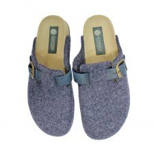 Slipper Berlin denim in felted wool