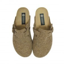 Slipper Berlin hazelnut in felted wool