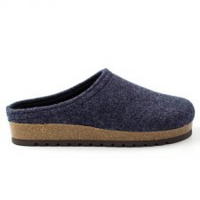 Slipper Anversa denim in felted wool