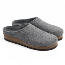 Slipper Anversa grey in felted wool