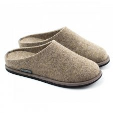 Slipper Lang Hazelnut in felted wool