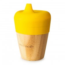 Small cup with sippy feeder in bamboo and silicone